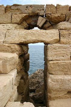 Lighthouse, Leptis Magna, Libya, Northern Africa