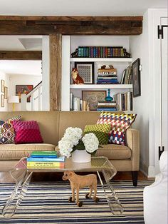 Upgrading your pillows is a great and inexpensive way to change your whole look: http://www.bhg.com/rooms/living-room/family/living-room-decorating-ideas/?socsrc=bhgpin062714upgradepillows&page=4