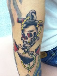 sailor jerry skull and crossbones  ... old school traditio...