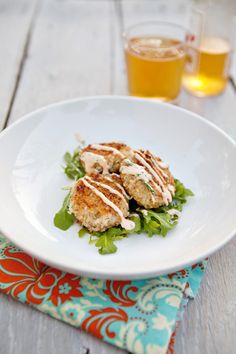 cilantro lime fish cakes with sriracha mayo...these look AH-mazing!