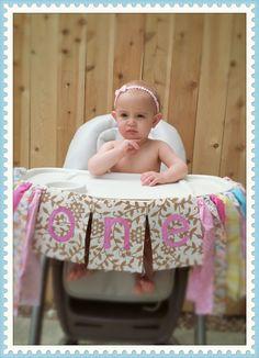 "DIY Shabby chic ""one"" garland #homemade #laboroflove #youaremyiloveyou First birthday, highchair banner design girl's birthday party ideas"
