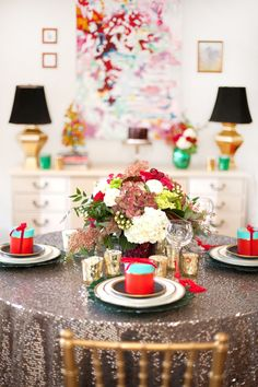 A Kate Spade-inspired Christmas party Photo by Lacey Rabalais Photography www.laceyrabalais.com