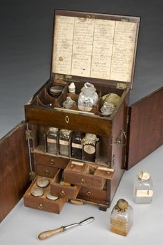 An apothecary chest
