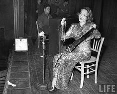Marlene Dietrich plays the musical saw.