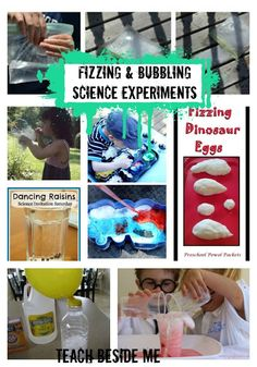 Fizzing & Bubbling Science Experiments- there's a counseling lesson in there somewhere… I know it!