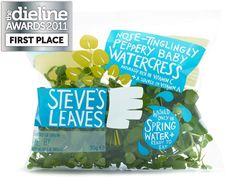 Steve's Leaves packaging system, by Big Fish Design Limited, UK