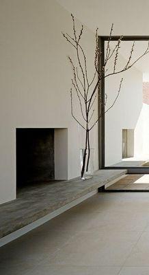 simple fireplace .
