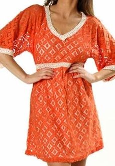 Orange Crochet Dress!  Perfect for Gameday!check out www.shopsoutherngrace.com