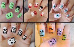 five easy halloween nail tutorials