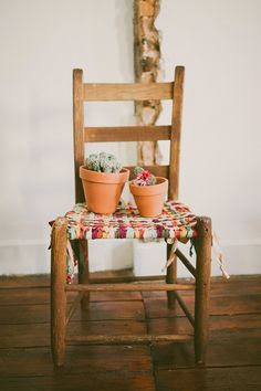Wooden Chair Makeover by Sincerely, Kinsey