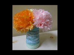 ▶ Tissue Paper Flower - Perfect Mother's Day Craft! - YouTube