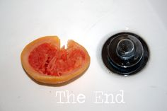 Using just the grapefruit and salt, clean bathtub, shower, and sinks.  It works GREAT and the bathrooms smell so nice.