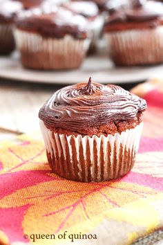 Grain-Free Pumpkin Cupcakes from the Nourishing Meals cookbook