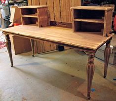 desk made from salvaged piano parts