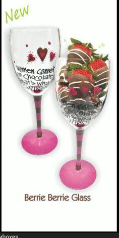 Glass strawberry.