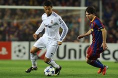 Ronaldo vs Messi Football...always a good game between RM and Barca