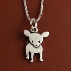 Chihuahua necklace by StickManJewelry on Etsy, $28.00