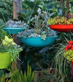 Colourful Hanging Plant Pots