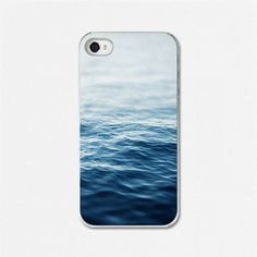 Beach iPhone Case, iPhone Cover, Water, Sapphire, Blue, Peaceful, Ombre, Waves, Lake, Ocean, Cellphone Case, Smartphone Cover.