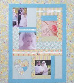 What a lovely way to remember a #wedding with this #quilt!
