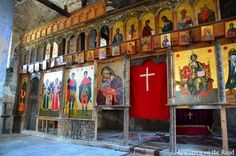 Icons in one of the amazing 'forgotten' churches of Voskopoje, Albania