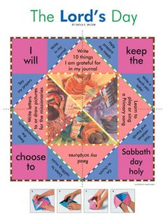 A Year of FHE: 2010 - Wk 36: The Sabbath Day - great FHE lesson on keeping the Sabbath day holy