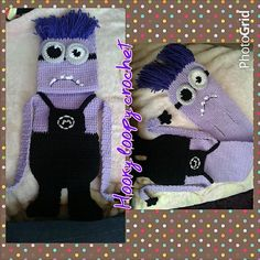 Ravelry: PURPLE Minion Double Slotted Scarf (child) pattern by Angie Mc