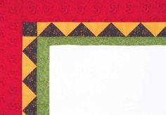 "TLC Home ""Triangles Quilt Border Pattern"""