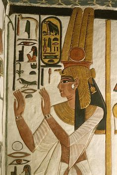Nefertari Tomb scenes, Valley of the Queens, Egypt