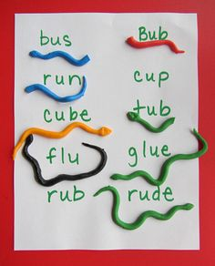 long and short vowel snakes