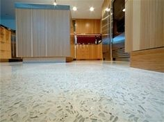 Recycled glass floors