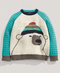 Boys Bear Sweater #mamasandpapas