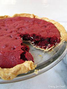 Red Velvet Brownie Pie