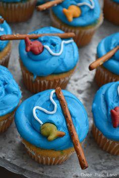 Fishing cupcakes, so cute.