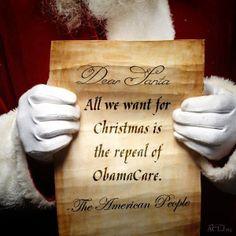 dear santa, repeal, freedom, funni, conserv, polit, american peopl, obamacar, christma