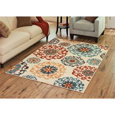 Better Homes and Gardens Suzani Area Rug, Multi-Colored