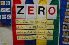 Zero the Hero activities for the 10th, 20th... etc day of school