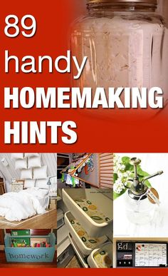Great hints for around the house that every homemaker needs to know!