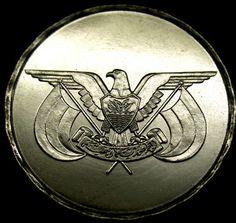 1993 YEMEN 1 Riyal SUPER SCARCE EAGLE COIN in AMAZING SHAPE! Uncirculated Gem