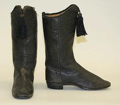 The 19th century women and mens shoes