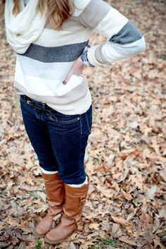 Sweater, scarf, boots