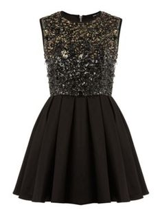 tfnc Multi sequin fit and flare dress Black - House of Fraser