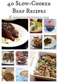 40 Slow Cooker Beef Recipes #CrockPotWeek