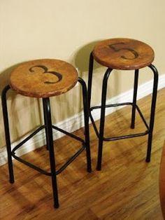 # bar stools DIY