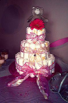 Diaper cake for baby shower