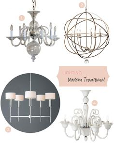 Modern Traditional Lighting Fixtures  #makingitlovely