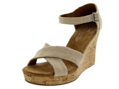 Sierra Women's Strappy Wedges, Sierra, 9.5