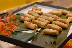 Asian Vegetable Summer Rolls with a sweet Thai chile relish | Puff 'n Stuff Catering | Orlando + Tampa, FL | Orlando Container Store VIP Grand Opening
