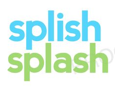 SPLISH Splash - Childrens Kids Bathroom Decor - Digital File to Print - Teal & Lime Modern Simple Subway Art. $3.00, via Etsy.