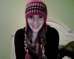 crochet ear flap hat